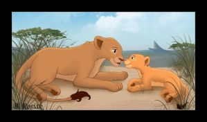 Nala and Sarafina by LizzyRiddle
