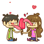 Popsicouple (WeChat Emoticon Challenge) by zephleit