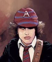 Angus Young by FonteArt