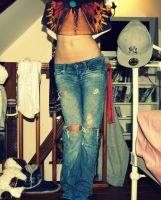 crop top and jeans by hod3003