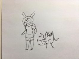 Fionna and Cake (sketch) by amsuherdi1111