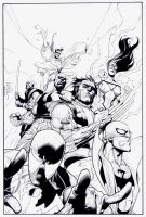 New Avengers 28: Cover INKS by boysicat