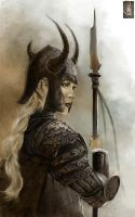 Female Warrior by muratgul
