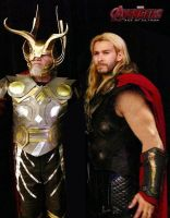 Odin and Thor Cosplay by captainjaze
