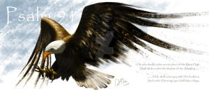 Eagle with text by makorm