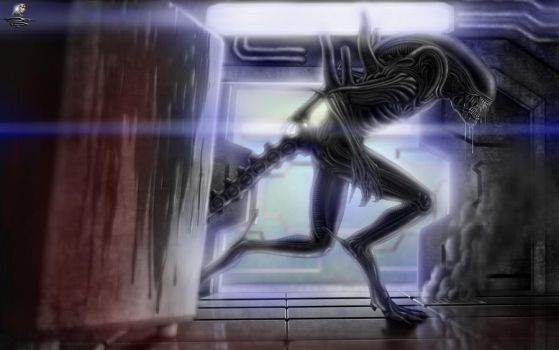 Alien Isolation + Speed-Paint by Unreal-Forever