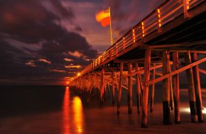 Pier At Night by flatsix911