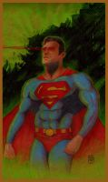 Superman Colored Pencil redux by NickJustus