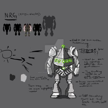 NRG Sketch and Study. Just an Update. by MarcWainwrightArt