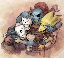 Undertale Grouphug by jameson9101322