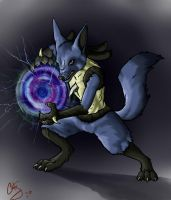 Shadow Wolf by DraconicKytten