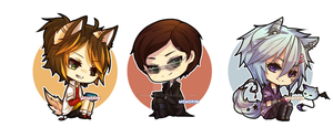 Chibi Commission Batch 2 by Momoriin