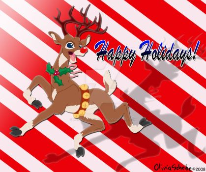 Happy Holidays from Rudolph by Animator-who-Draws