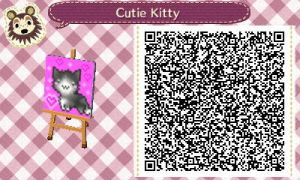 ACNL QR Code - Little Neko/CanvasPrint by foreverbluejeans