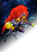 Starfire of the Teen Titans by tomcrielly