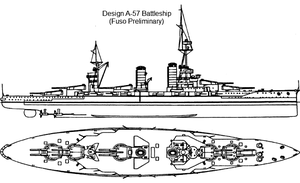 Battleship Design A-57 by Tzoli