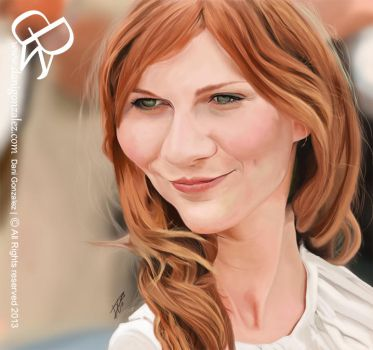 KIRSTEN DUNST caricature by DGMilustra