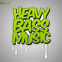 Heavy Bass Music Logo/Cover by mrsbadbugs