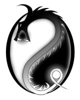 Yin Yang and Dragon by gloomfang