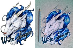 White Dragon Badge by Natoli
