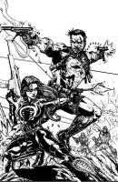 Punisher and Baroness by JointForce