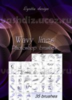 Wavy line brushes by Lyotta