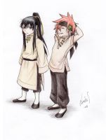 Kanda and Lavi as kids by MizuSasori
