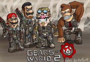 "Gears of Wario 2 ""coloured"" by renslo689"