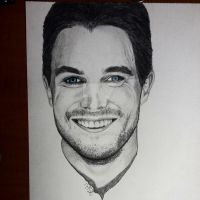 Stephen Amell Drawing by jeffa7xheiny