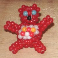 Beaded Care Bear by Anabiyeni