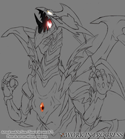Chaos Emperor Dragon Work in Progress by Xous54