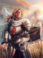 Female Knight by AgusSW