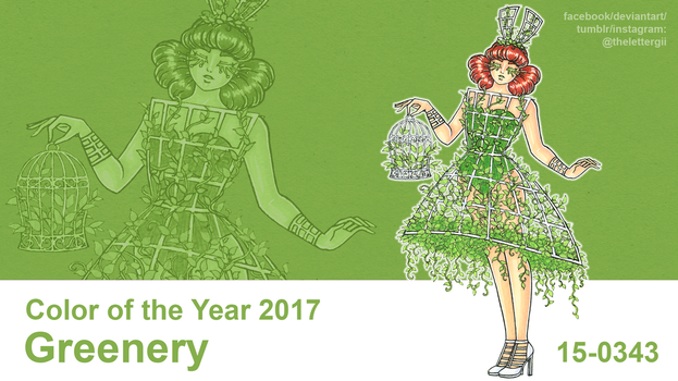 Color of the Year 2017: Greenery by thelettergii