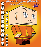 Aang cubeecraft from Avatar The Last Airbender 3D by SKGaleana