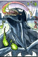 Venom Sketch Card by DKuang