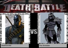 Heath's DB DeathStrok VS The Shredder by heathnecaise