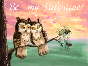 Owl couple - Be My Valentine by Redilion