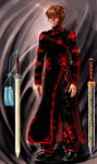 Chinese Black Gown Suit Design by sam1027