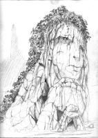 Crying Woman Rock by ARMORMAN