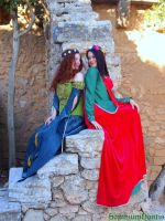 Medieval ladies I by SomniumDantis