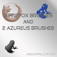 Firefox And Azureus Brushes by aeonflux707