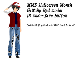 {MMD Halloween month} Glitchy Red Model Download by AuraandAxz
