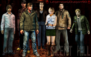 Silent Hill Protagonists by LegendaryDragon90