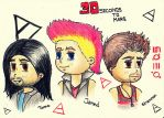 30Seconds To Mars sketches by MissHeroes94
