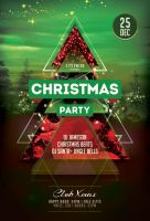 Christmas Party Flyer Template by styleWish