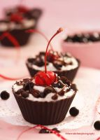 Chocolate Cups Filled With Oreo Cream Mousse by theresahelmer