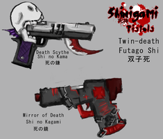 Shinigami Concept- Pistols by miss-mustang