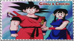Goku x ChiChi stamp by VegetasLittleLover
