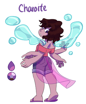 Charoite Steven/Lapis Fusion by MichPajamaArtist
