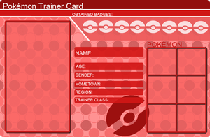 Pokemon Trainer Card Template Red by khfanT